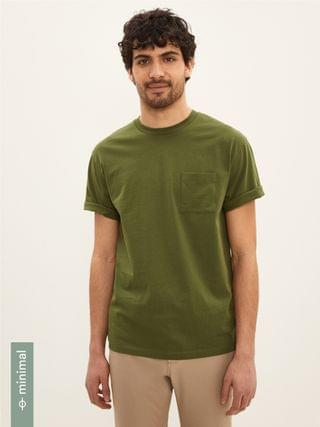 MEN The Relaxed Essential Tee in Dark Green