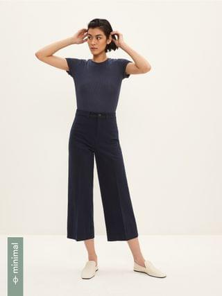 WOMEN The Josephine Cropped Pant in Navy