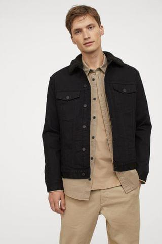 MEN Lined Denim Jacket