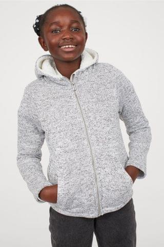 KIDS Long Hooded Knit Jacket