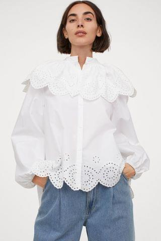 WOMEN Embroidery-detail Blouse