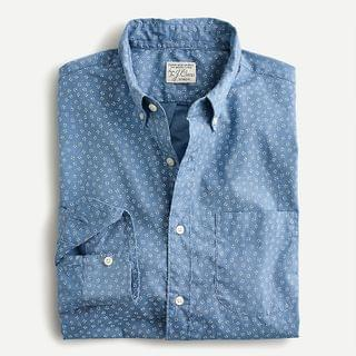 MEN Stretch Secret Wash cotton poplin shirt in daisy