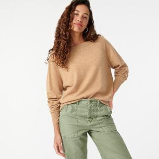 WOMEN Cashmere wide-neck sweater