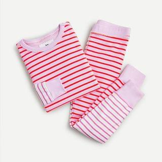 KIDS Girls' long-sleeve pajama set in fun stripe