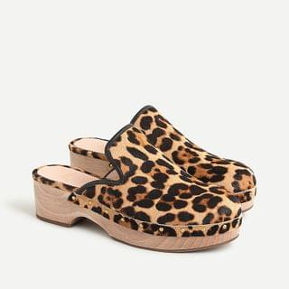 WOMEN Clogs in leopard calf hair