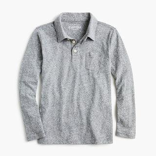 KIDS Boys' long-sleeve polo in softest jersey