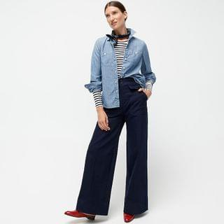 WOMEN Button-up shirt in Japanese denim