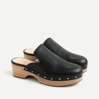 WOMEN Leather clogs