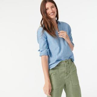 WOMEN Denim popover shirt in Billy wash