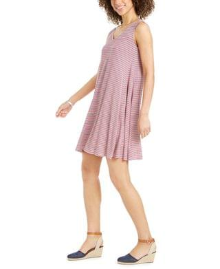 WOMEN Petite Print Sleeveless Swing Dress, Created for Macy's