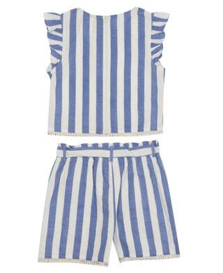 KIDS Big Girls Linen Short Set