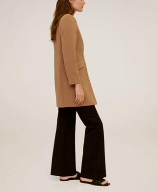 WOMEN Straight Pocketed Coat