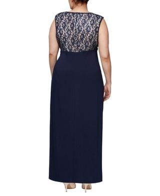 WOMEN Plus Size Embellished Lace Gown