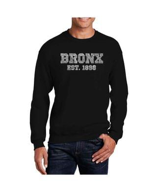 MEN Men's Word Art Popular Neighborhoods In Bronx, New York Crewneck Sweatshirt