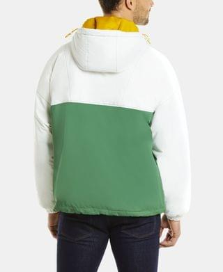 MEN Men's LIVE Long Sleeve Colorblock Parka Jacket with Oversized Lacoste Print