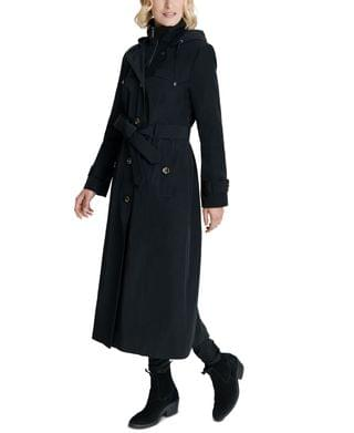 WOMEN Hooded Maxi Trench Coat