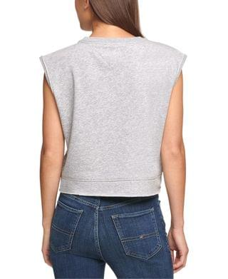 WOMEN Cropped Flag Sleeveless Sweatshirt