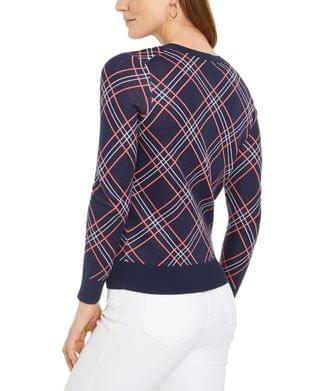 WOMEN Plaid Cardigan Sweater, Created for Macy's