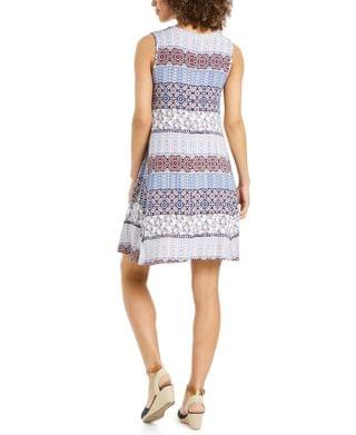 WOMEN Plus Size Sleeveless Printed Swing Dress, Created for Macy's