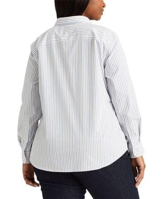 WOMEN Plus Size Classic Striped Shirt