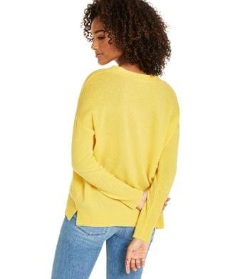 WOMEN Cashmere Oversized V-Neck Sweater, Created for Macy's