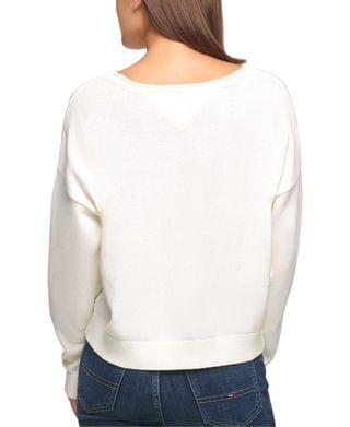 WOMEN Cotton Embossed Sweater