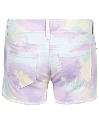KIDS Big Girls Pastel-Print Denim Shorts