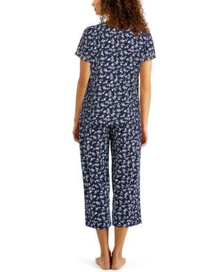 WOMEN Plus Size Cotton Capri Pajama Set, Created for Macy's
