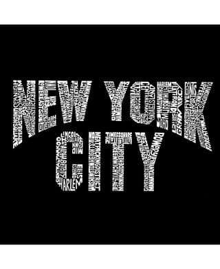 MEN Men's Word Art Long Sleeve T-Shirt- New York City Neighborhoods