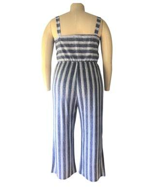 WOMEN Trendy Plus Size Striped Jumpsuit