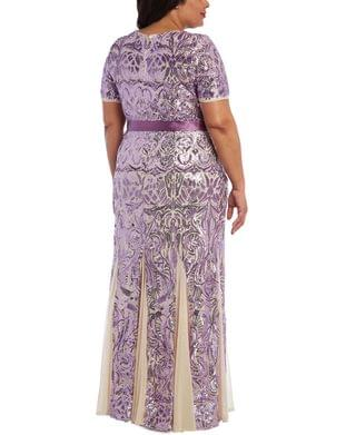 WOMEN Plus Size Embellished Gown