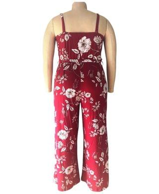 WOMEN Trendy Plus Size Floral-Print Surplice Jumpsuit