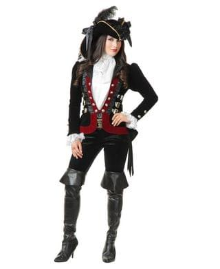 MEN Women's Sultry Pirate Lady Wine Jacket Adult Costume