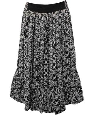 WOMEN INC Cotton Eyelet Embroidered Maxi Skirt, Created for Macy's