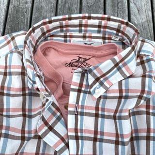 MEN Key West Poplin - Harbor Cross