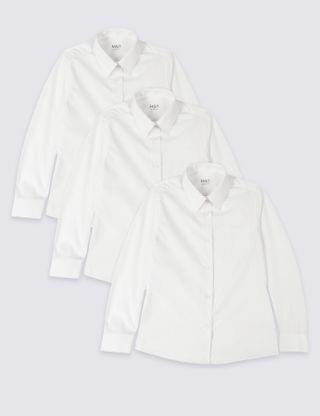 KIDS Girls' Plus Fit Easy To Iron School Blouses