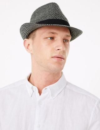 MEN Textured Trilby
