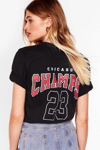 WOMEN Hang With the Champs Graphic Back Tee