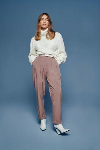 WOMEN The Stakes Are High-Waisted Tapered Pants