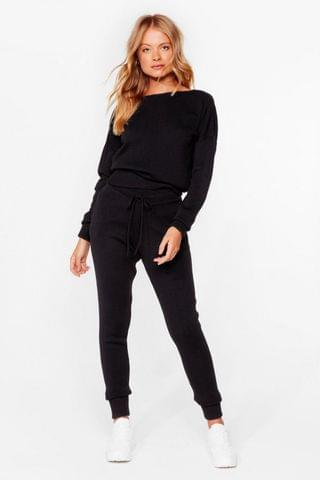 WOMEN We're Knit Kidding Sweater and Joggers Set