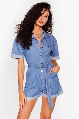 WOMEN Denim Playsuit