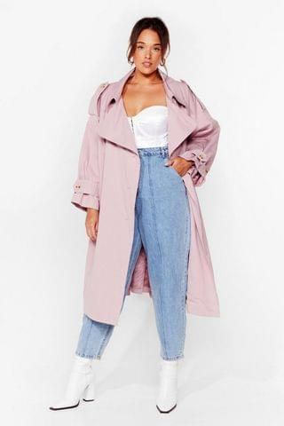 WOMEN Cover Your Basics Plus Belted Trench Coat