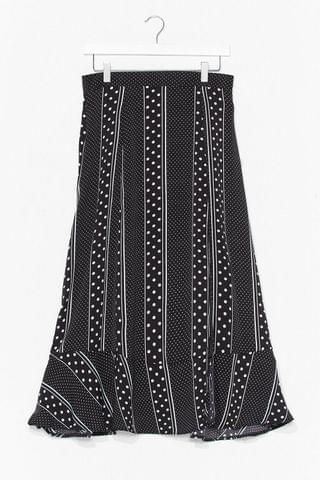 WOMEN There's Been a Mix Up High-Waisted Midi Skirt