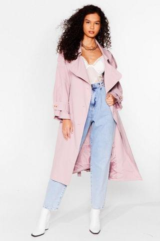 WOMEN Cover Your Basics Belted Trench Coat