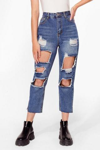 WOMEN Keep a Cool Shred Distressed Denim Jeans