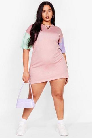 WOMEN New Kid on the Colorblock Plus Tee Dress