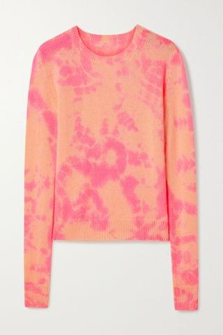 WOMEN THE ELDER STATESMAN Hot Tranquility tie-dyed cashmere sweater
