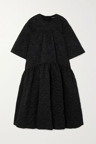 WOMEN SIMONE ROCHA Oversized tiered cloqu midi dress