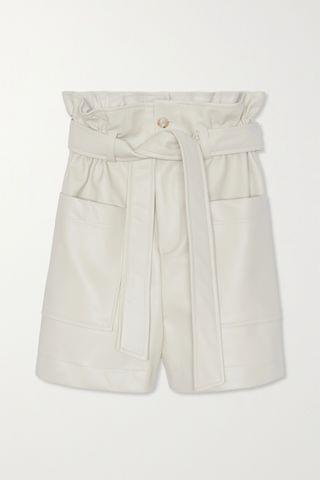 WOMEN FRANKIE SHOP Alex belted faux leather shorts