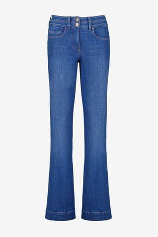 WOMEN Bright Blue Lift, Slim And Shape Flared Jeans